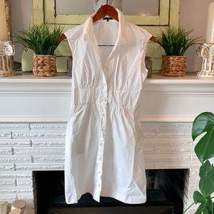 Theory Shailyn Claremont White Shirtdress Size 4